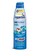 Coppertone Kids Wet 'N Clear Spray - SPF 45+ - 6 oz