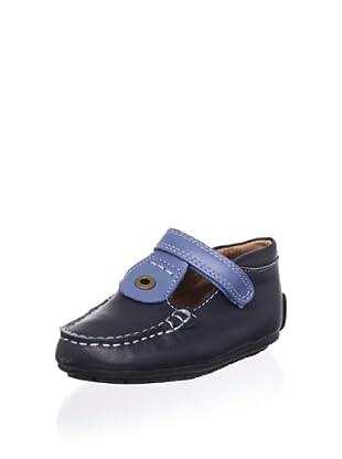 Venettini Kid's Luke 2 T-Strap Loafer (Navy/Indigo)