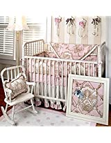 English Rose Garden 4 Piece Crib Bedding Set by New Arrivals Inc.