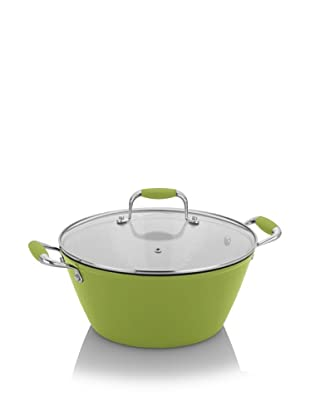 Michelle B. by Fagor Cast Iron Lite Soup Pot with Lid (Lemon Lime)