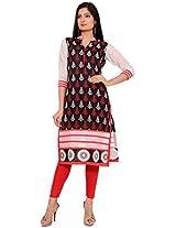 Amaya Women's Cotton Kurta (A1020-S_XL, Multicolored, XL)