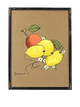 Uptown Down 1970 Framed Lemon & Orange Art