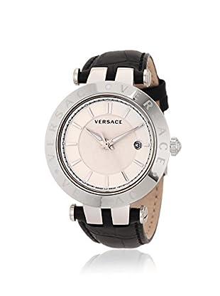 Versace Men's 23Q99D002 S009 V-Race Black/White Leather Watch
