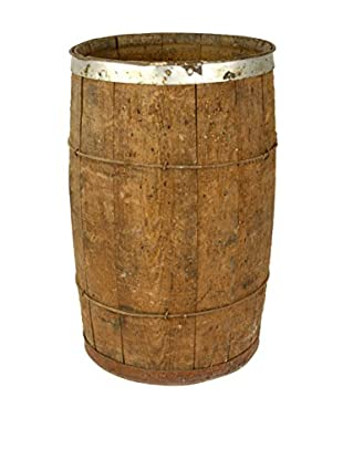 Uptown Down Previously Owned Small Wooden Barrel