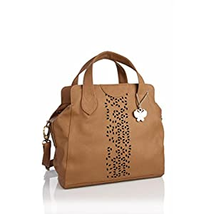 Butterflies Stylish Look Shoulder Bag (brown)_BNS 0456