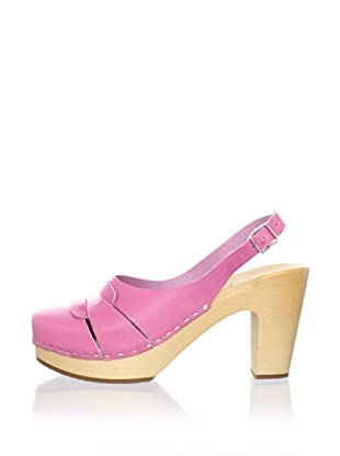 Swedish Hasbeens Women's 60's Slingback Sandal (neon pink)