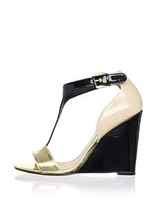 Mark + James Women's Nyomi Wedge Sandal (Natural/Black)