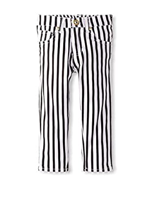 U.S. Polo Assn. Girl's Ankle Length Candy Stripe Skinny Jean