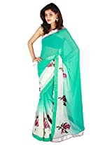 Shubh Embroidered Saree (Green)_SASF0075