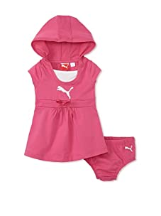 PUMA - Kids Baby Girl's Dress and Diaper Set (Pink)