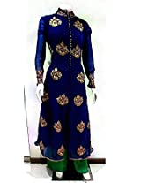 Shree Fashion Woman's Georgette With Dupatta [Shree (63)_Blue]