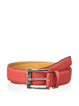 Leone Braconi Men's Sauvage Bullskin Belt (Red)