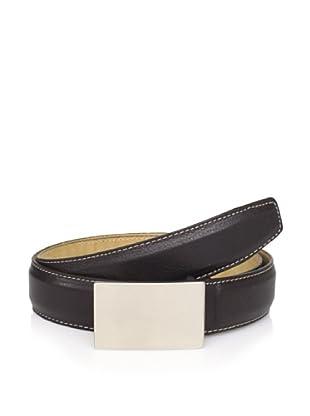 Joseph Abboud Men's Plaque Belt (Brown)