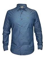 Numero Uno Blue Printed Shirt