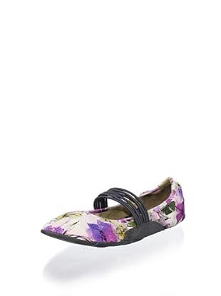 Blake Brody Women's Paige Yoga Flat (Purple Floral/Black)