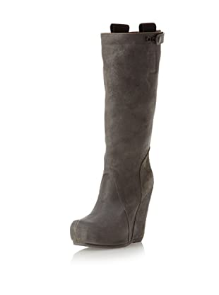 Rick Owens Women's Wedge Knee-High Boot (Darkdust)