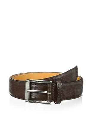Leone Braconi Men's Minipaglia Embossed Calfskin Belt (Testa Moro)