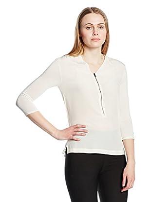 Capital B Seidenbluse Capital B Silk Blend T-Shirt weiß Xl