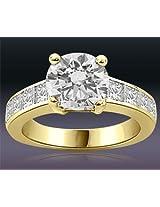 1.20TCW GIA Cert N/SI1 Cert Sol Diamond Engagement Ring