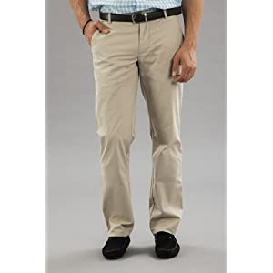 Men Beige Cotton Pants