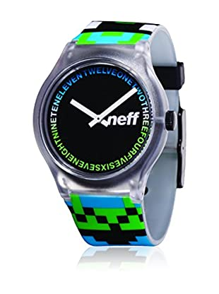 Neff Quarzuhr Clear grau/grün/türkis 35  mm