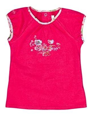 Kenzo Kids Camiseta Ribete Flores (fucsia)
