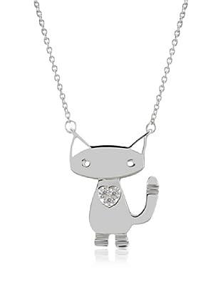 Divas Diamond Collar Diamond Cat Plata