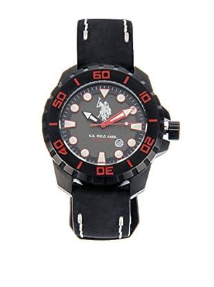 U.S. POLO ASSN. Uhr mit japanischem Quarzuhrwerk Eagle schwarz 46 mm