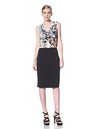 Calvin Klein Women's Pencil Skirt (Navy Melange)