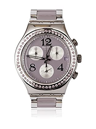 Swatch Quarzuhr Woman SECRET THOUGHT BEIGE-MAUVE YCS562G 40 mm
