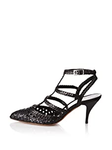 STEPHANE KELIAN Women's Rose T-Strap Mid Heel (Noir)