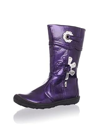 Venettini Kid's June Flower Boot (Toddler/Little Kid) (Purple Patent)