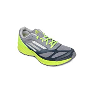 Adidas Men Grey & Fluorescent Green Lite Pacer M Sports Shoes