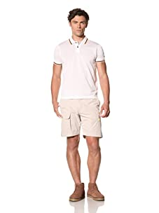 Pringle of Scotland Men's Pique Polo with Contrast Tipping (Optic White)
