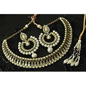 Necklace sets - Kundan Necklace & Dangling Pearl Earrings