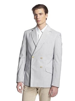 Vivienne Westwood Men's Double-Breasted Stripe Blazer (White/Grey Stripe)