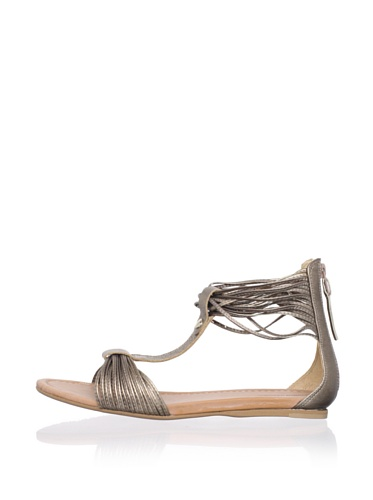 Madison Harding Women's Connie Flat Sandal (Platino)