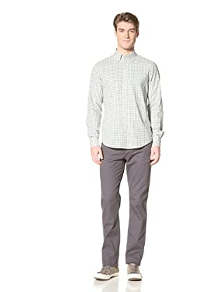 Ben Sherman Men's Plectrum Gingham Woven Shirt (Soft Mint)