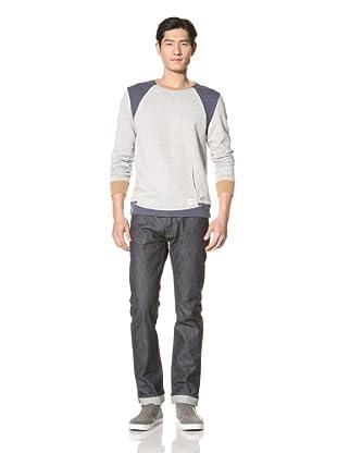 Zanerobe Men's Axel Crew Neck Sweater (Light Grey)