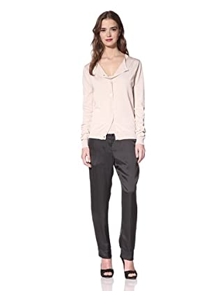 NINA RICCI Women's Silk Button Front Cardigan (Beige)