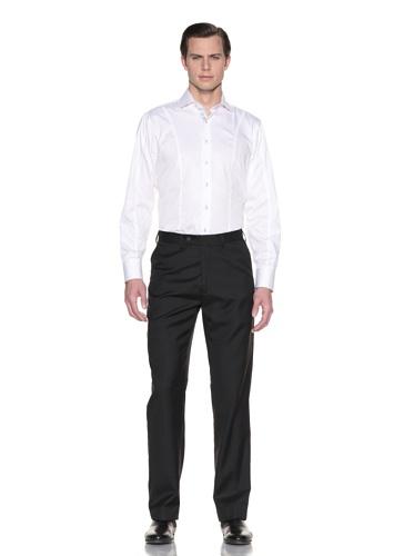 Report Collection Men's Flat-Front Dress Pants (Black)