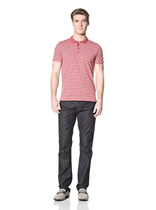 Ben Sherman Men's Button-Down Polo (Atlantic Coral)
