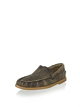 Bed|Stü Men's Uncle Larry Slip-On Boat Shoe (Black Pebble)