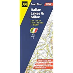 Italian Lakes and Milan (AA Road Map Italy)