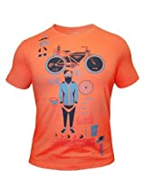 Peter England Orange T-Shirt