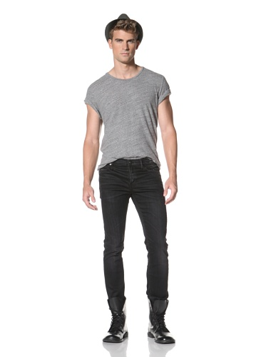 R13 Men's Skinny Low Rise Jeans (Blue/Black)
