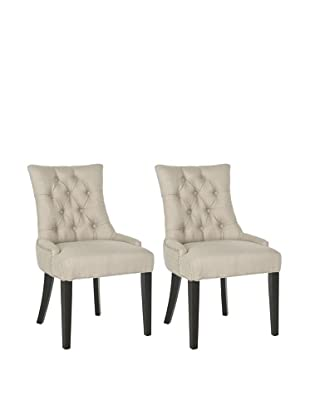 Safavieh Set of 2 Ashley Kd Side Chairs, Antique Gold