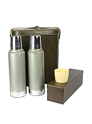 Uptown Down Vintage Picnic Thermos Set with Condiments Box
