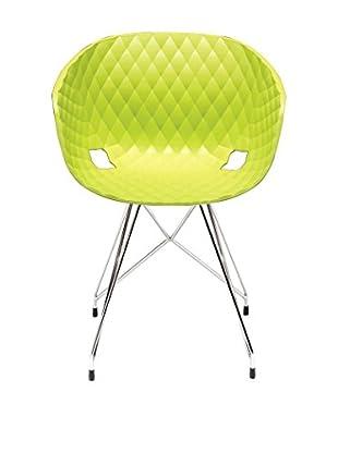 Metalmobil Stuhl Unika-596 grün/chrom