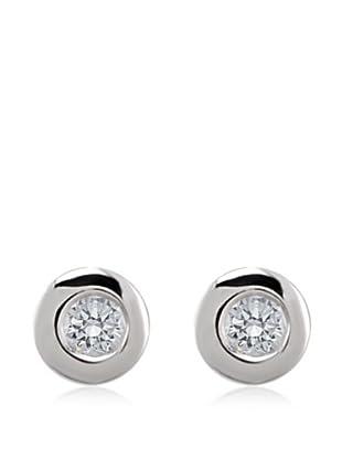 Divas Diamond Pendientes Oro Diamante Solitario